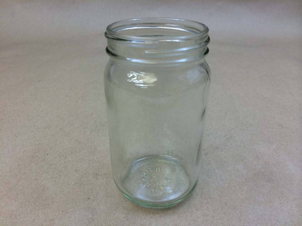 8 oz.   58 400 Flint/Clear  Standard Round  Glass   Jar