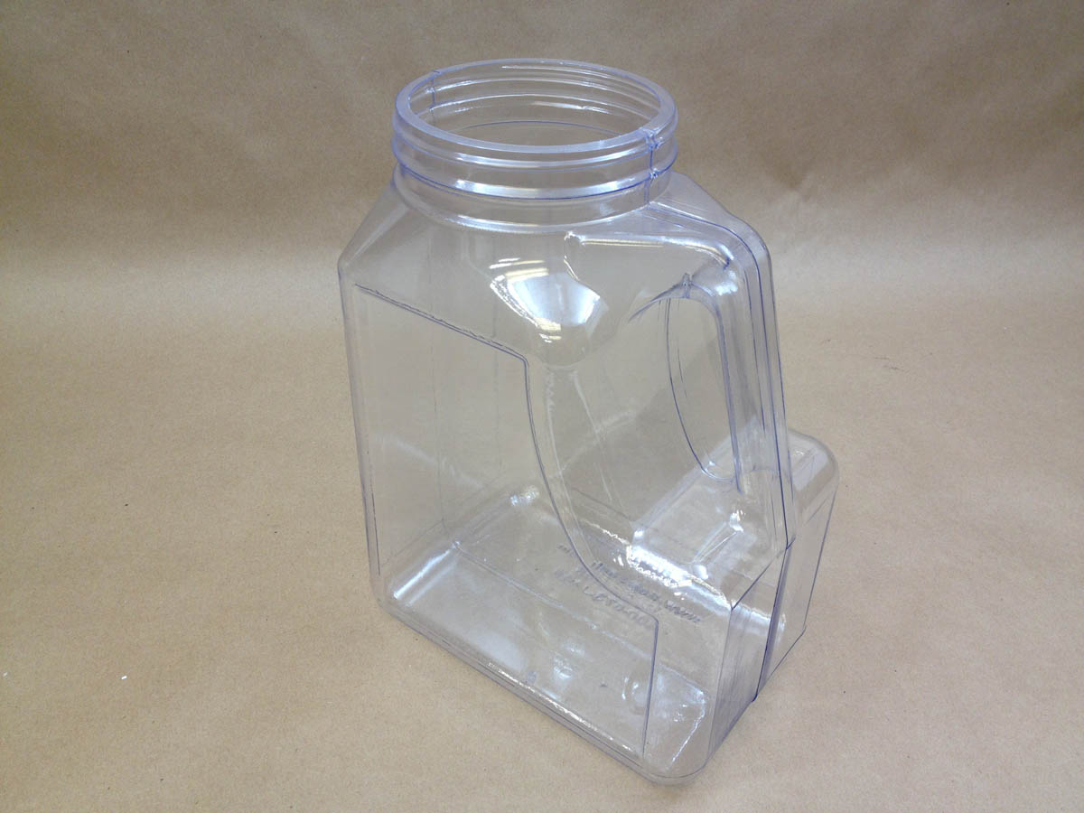 168 oz.   110/400 Clear PVC     Plastic   Canister