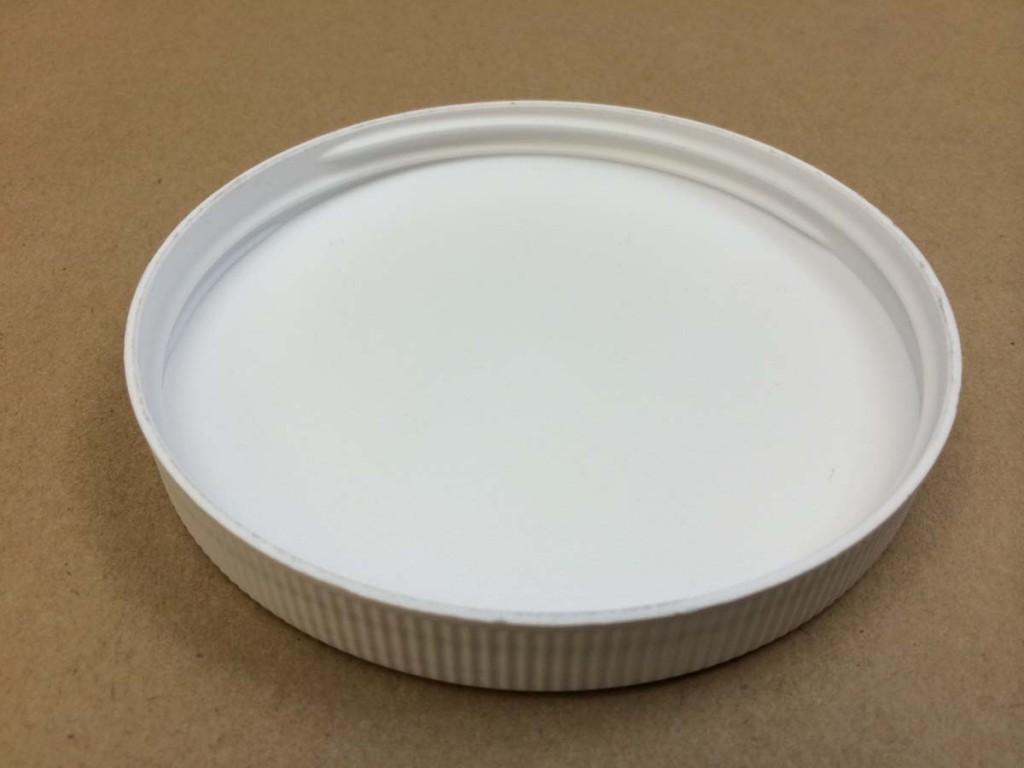 110 400   110 400 White  Round  Plastic   Cap