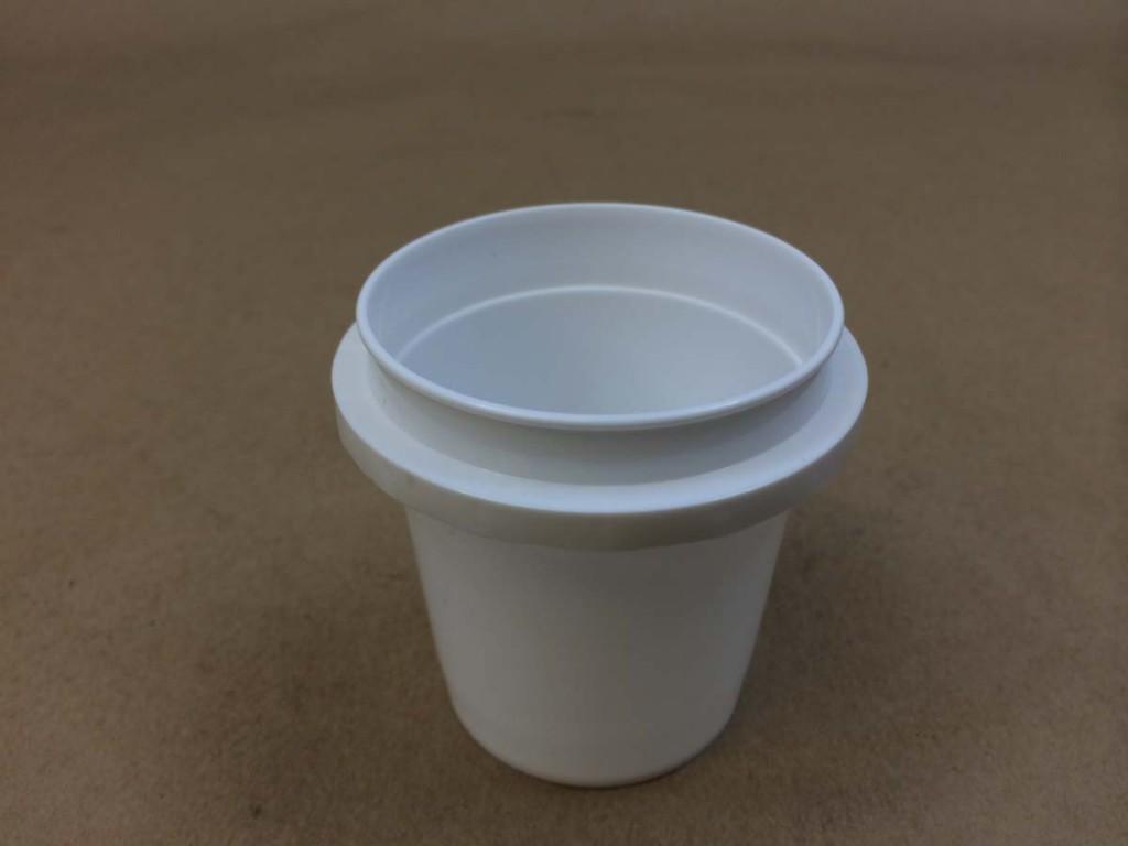 4 oz.    White  Vapor Lock  Plastic   Tub
