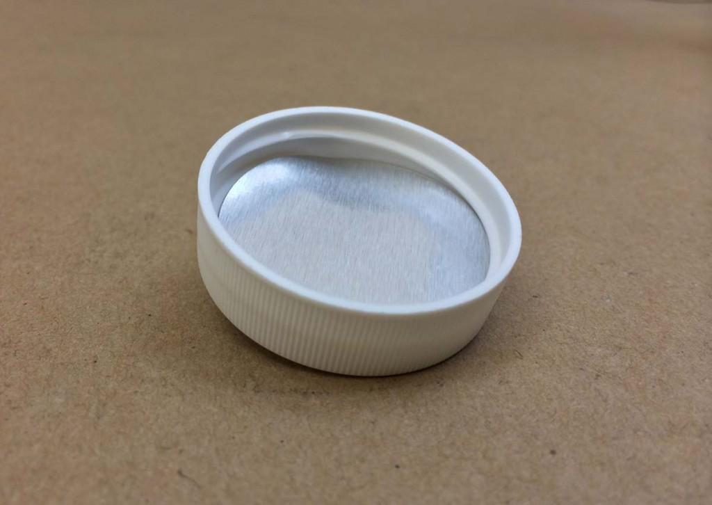 38 400   38 400 White  Round  Plastic   Cap