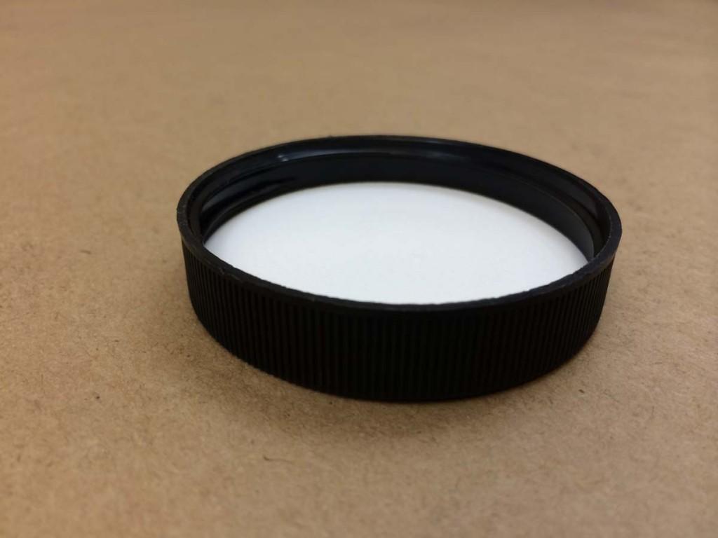 58 400   58 400 Black  Round  Plastic   Cap