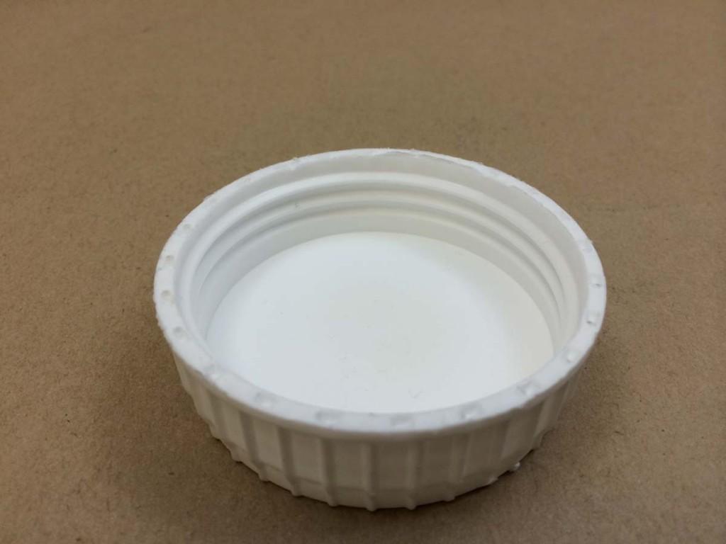 63 485   63 485 White  Round  Plastic   Cap