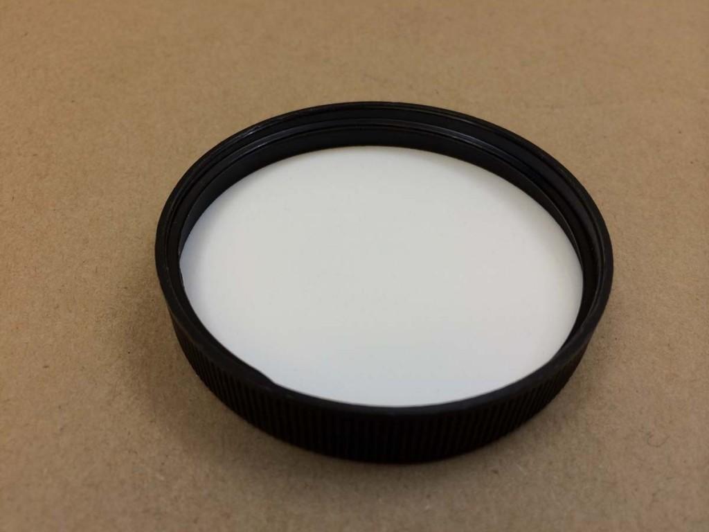63 400   63 400 Black  Round  Plastic   Cap