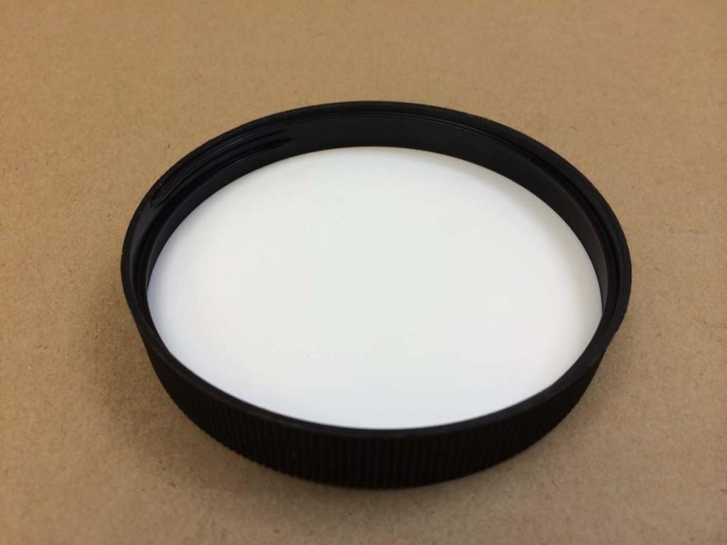 89 400 Black  Ribbed Sides/Matte Top  Plastic   Cap