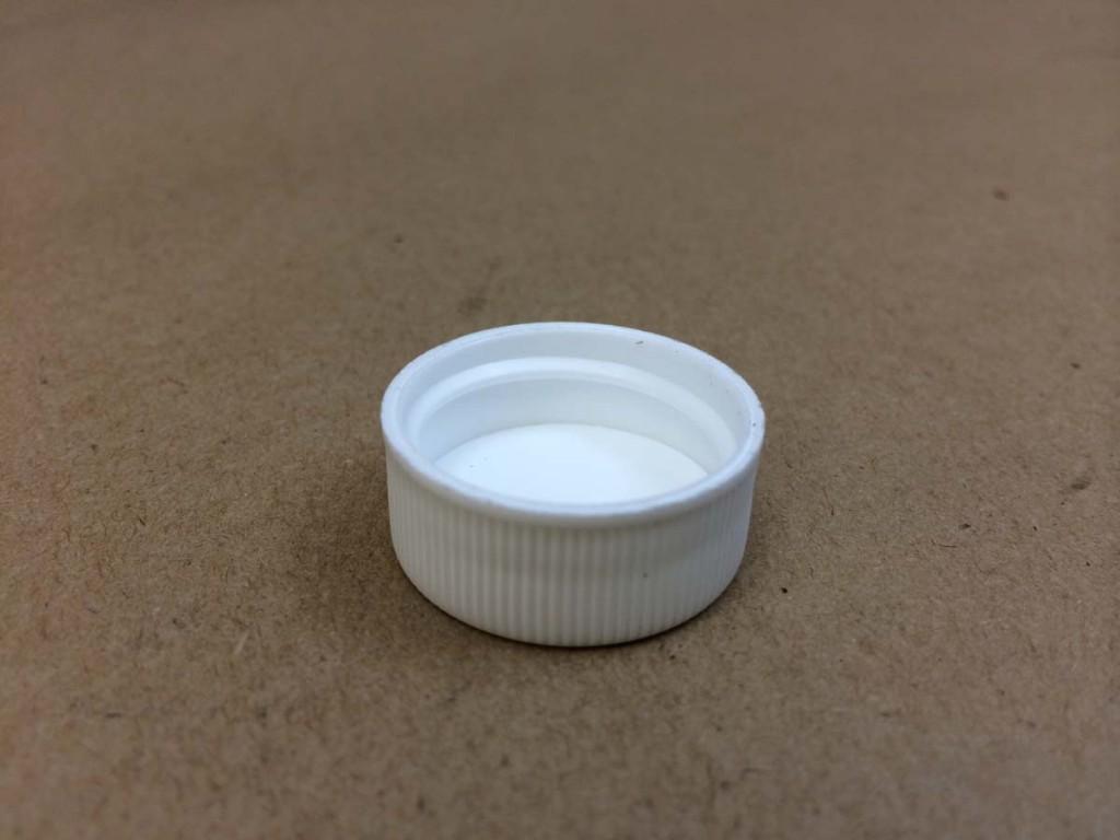 24 400   24 400 White  Round  Plastic   Cap