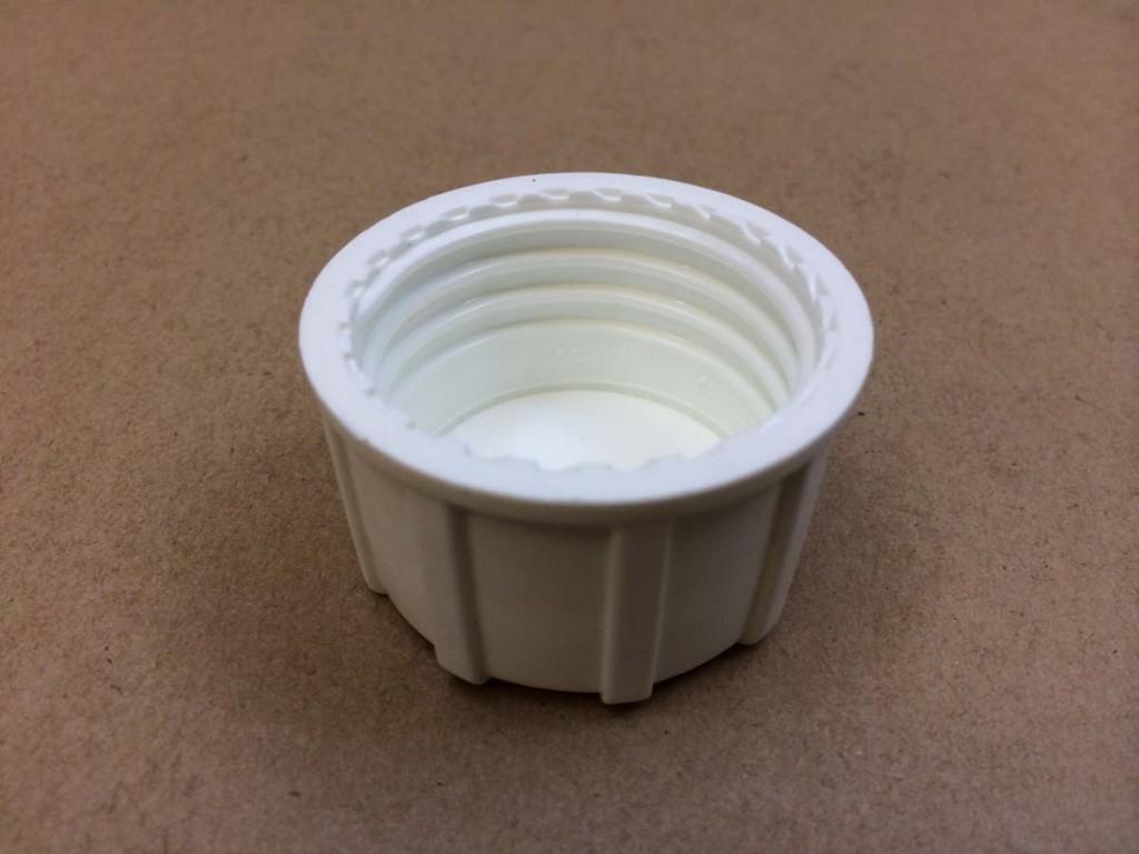 38 430   38430 White  Round  Plastic   Cap