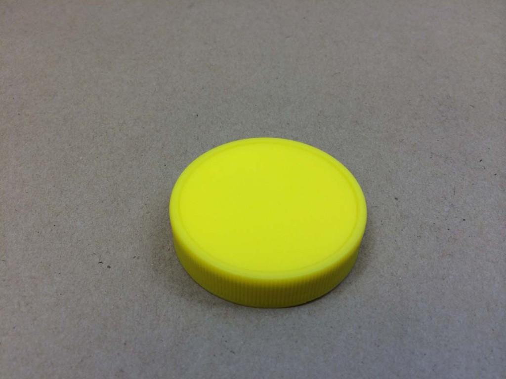 53 400   53 400 Yellow  Round  Plastic   Cap