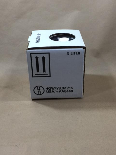 5 Litre Square Corrugated Cardboard Bag in a Box