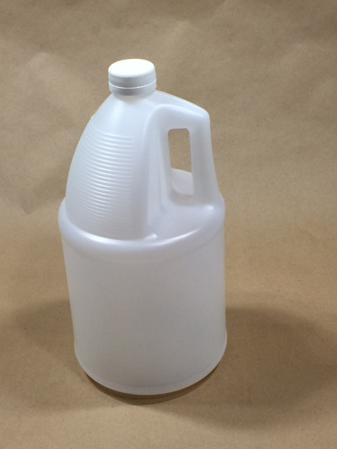 128 oz. /1 gallon   38 400 Natural TE  Round 130G   Plastic   Jug With Cap Sold Separately