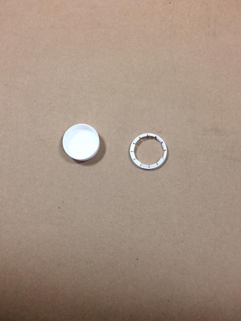 38 TE   38 TE White  Round  Plastic   Cap