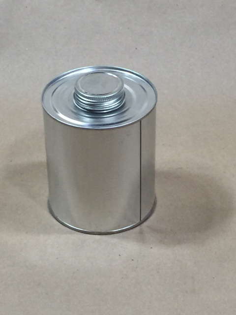 1.75 Delta Plain  Round  Tin   16 Oz Monotop Can Cap Sold Separately