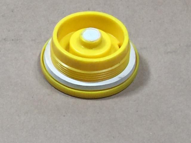 2 Inch   2 Inch Yellow  Round  Plastic   Yellow NPS Fine Thread Vent Plug w/EPDM Gasket