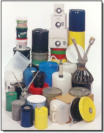 Steel, Hazardous Materials, Composite,  and Plastic Buckets, Carboys, Cubitainers and Buckets