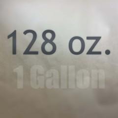 1 gallon containers (128 oz.)