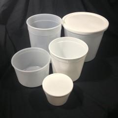 Round Plastic Food Tubs