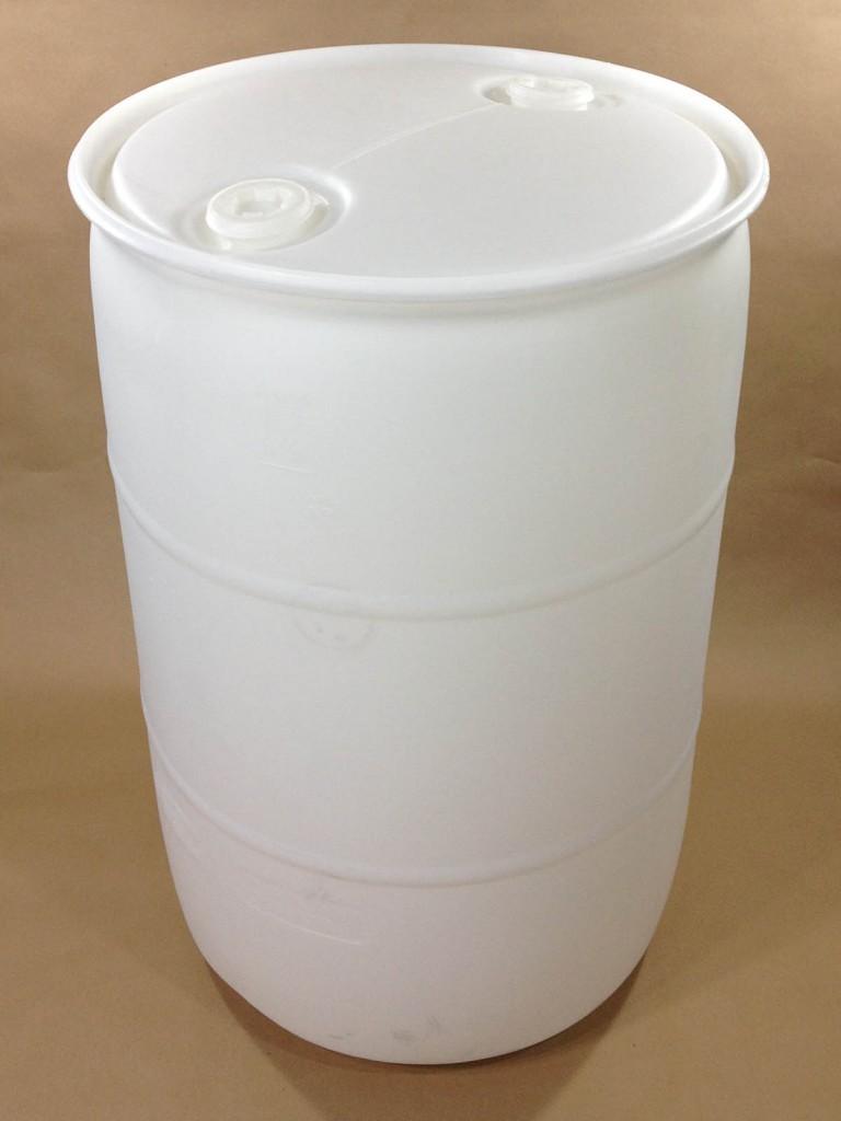 55 Gallon Natural Plastic Drum SPP055CN00UL1