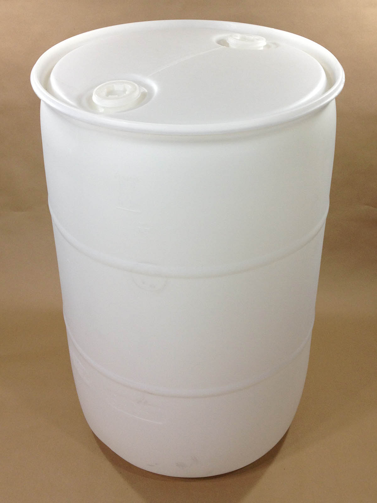 55 Gallon Natural Plastic Drum SPP055CN00UL1 Yankee Containers