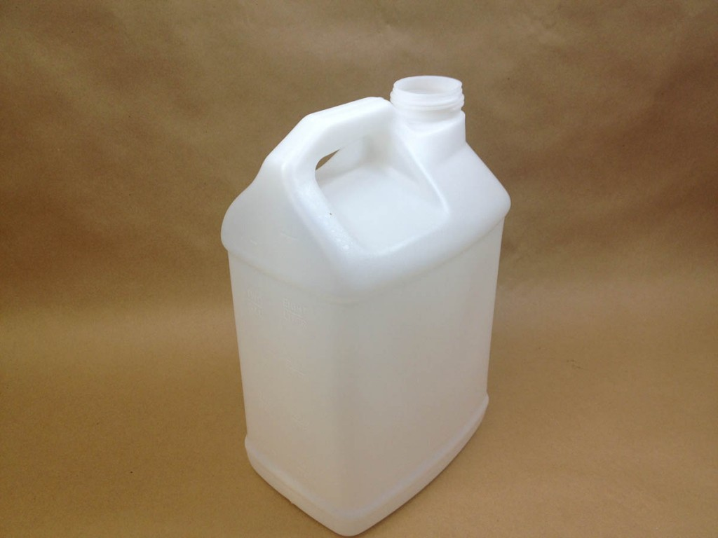 2.5 gallon jug without cap on