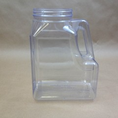168 Ounce Clear PVC Plastic Oblong Jug with Handle