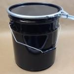 metal bucket, dish cover, lever locking ring