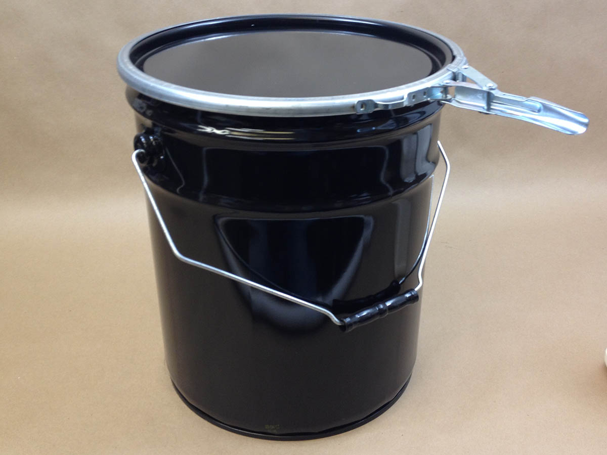 5 Gallon Unlined Metal Bucket With Dish Cover And Lever