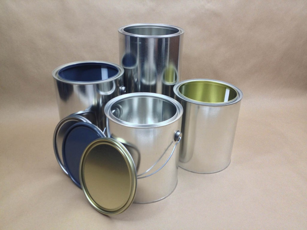 metal paint cans, lined can, unlined metal paint cans