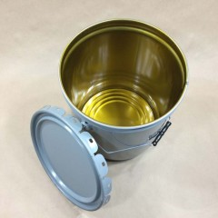 Clear/Gold Phenolic Lined Steel Pails