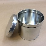 metal tin, gift tin, holiday cookie cans, slip cover can, metal can with slip on cover