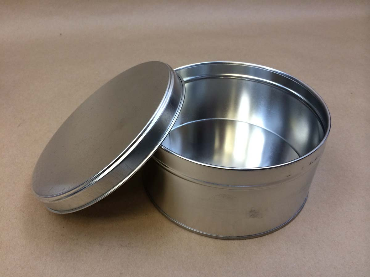 3 lb. slip cover can, metal can with slide on lid, gift tins, cookie tins