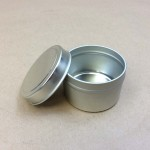 small tin can, slip cover can, small metal tin