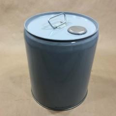 3.5 Gallon Grey Steel Closed Head (Tight Head) Pail or Drum