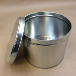 metal can, holiday tin, tinplate can, slip cover can