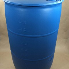 55 Gallon Open Head and Tight Head Blue Industrial Plastic Drums