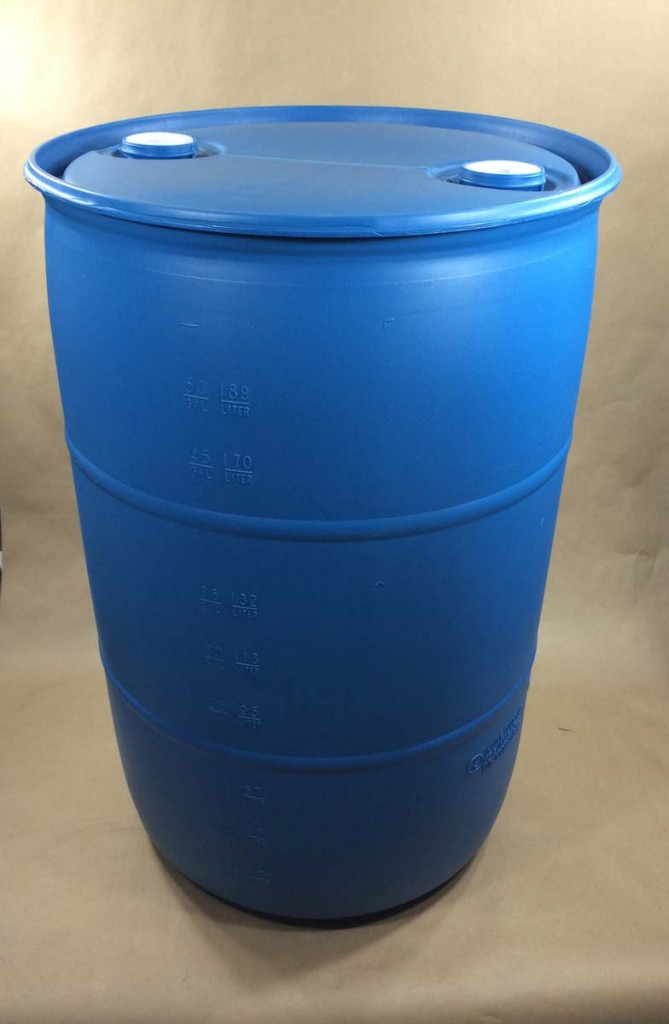 55 Gallon Open Head And Blue Plastic Drums