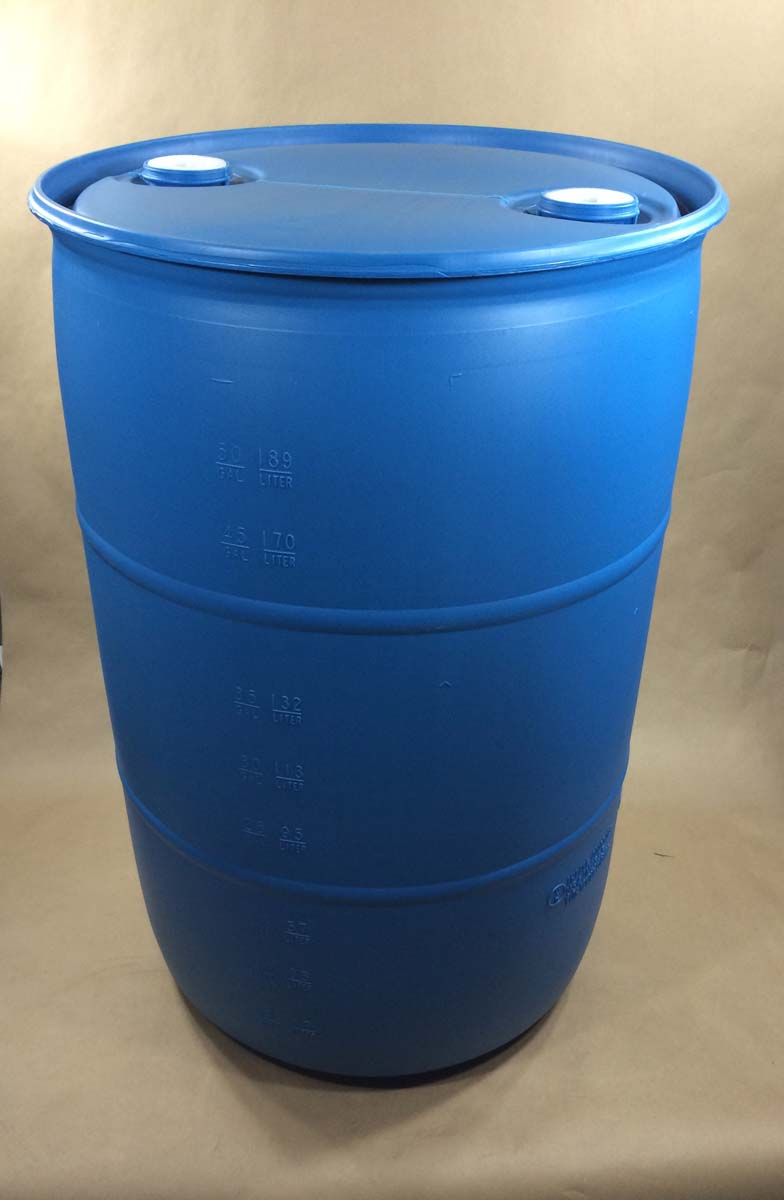 55 Gallon Head Blue Plastic Drum Spp055c400ul1