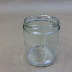 6 Ounce Clear Glass Straight Sided Jar