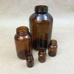 CC Round Amber Glass Jars