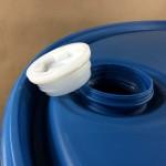 55 gallon tight head plastic drum, closed top plastic barrel, drum plug, drum bung