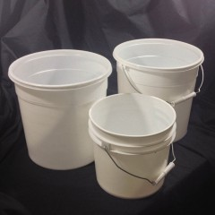 BPA Free Easy Open Plastic Pails and Covers Without Gaskets