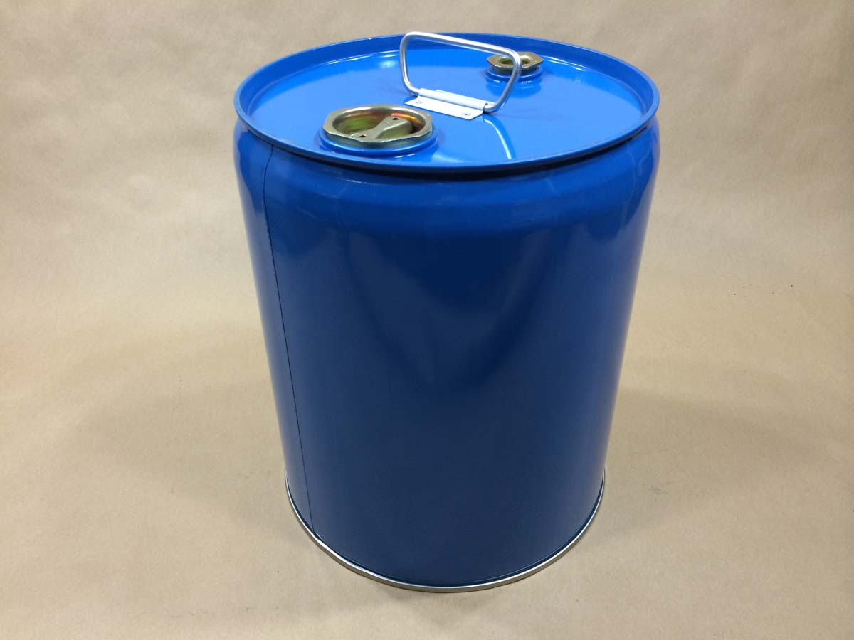 5 Gallon Blue Closed Top Steel Pail Cscp2 05 01niles