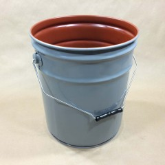 Red Phenolic Lined Steel Pails