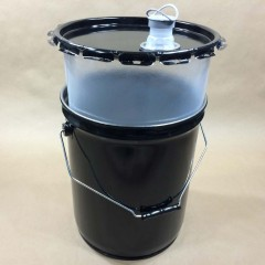 5 gallon Polyethylene Lined Steel Pails, Drums and Metal Buckets