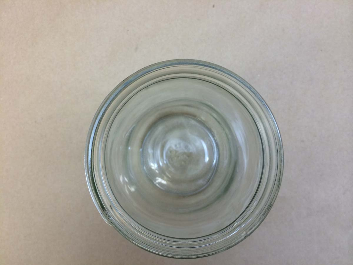32 Oz Straight Sided Glass Jar Top View Yankee