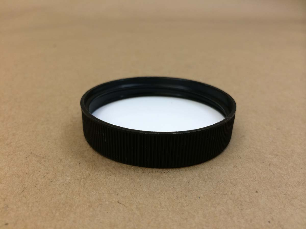53 400 Black Foam/Poly Lined Plastic Cap