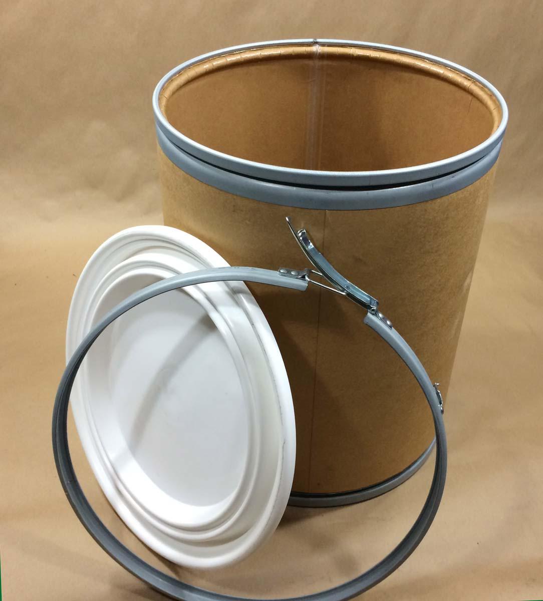 15 Gallon Weatherpak Weather Resistant Fiber Drum Open