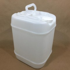 5 Gallon Plastic Rectangular Tight Head Containers in Natural, Black or Blue