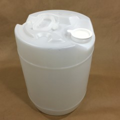 5 Gallon Round Natural HDPE Plastic Drum