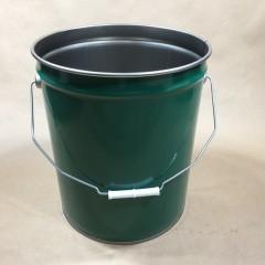 5 Gallon Green Steel Pail