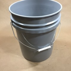 5 Gallon Grey Plastic UN Liquid Pail